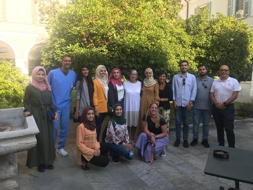 Studenti palestinesi a Casa di Industria
