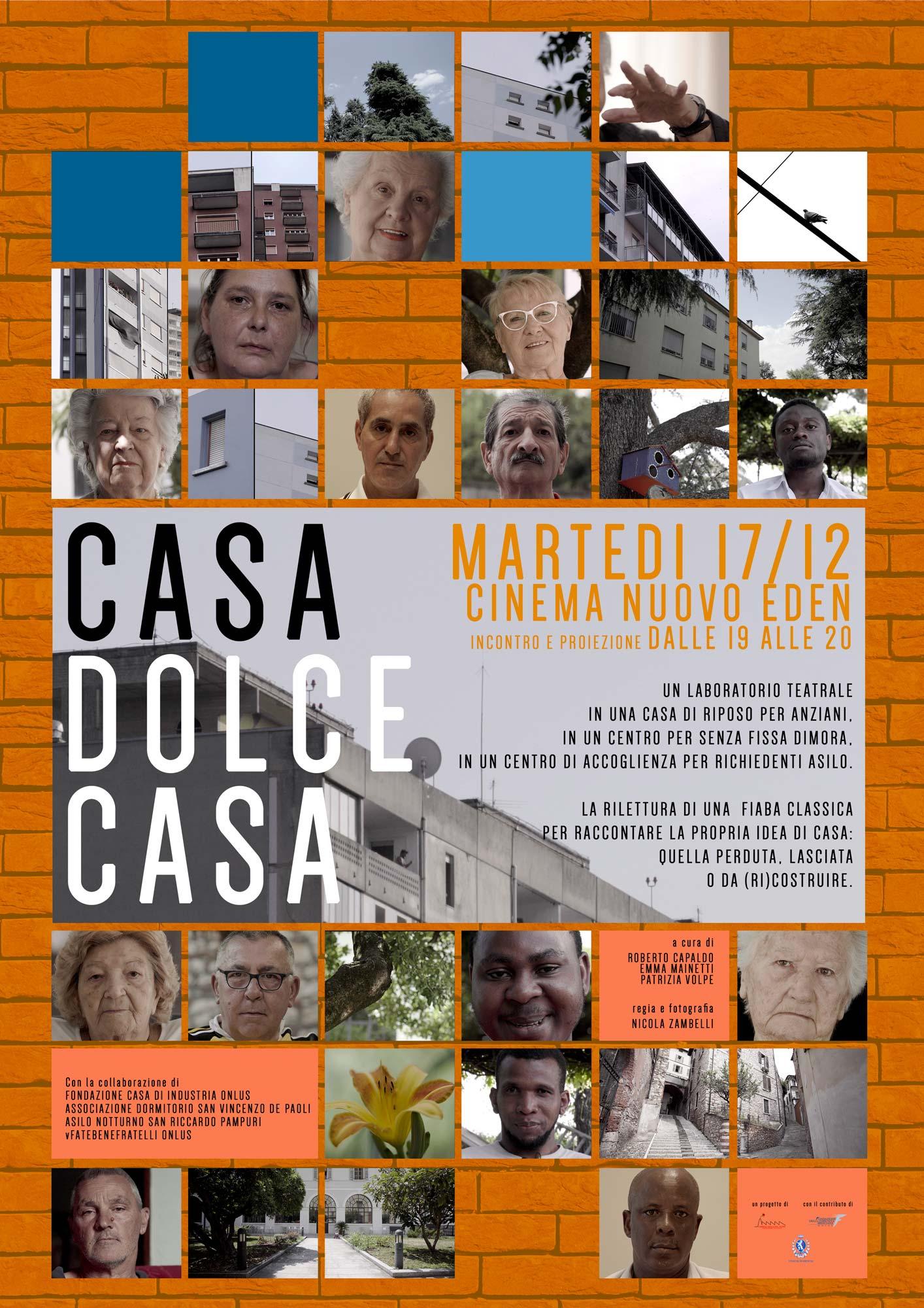 Casa dolce casa proiezione al Cinema Nuovo Eden il 17/12/19