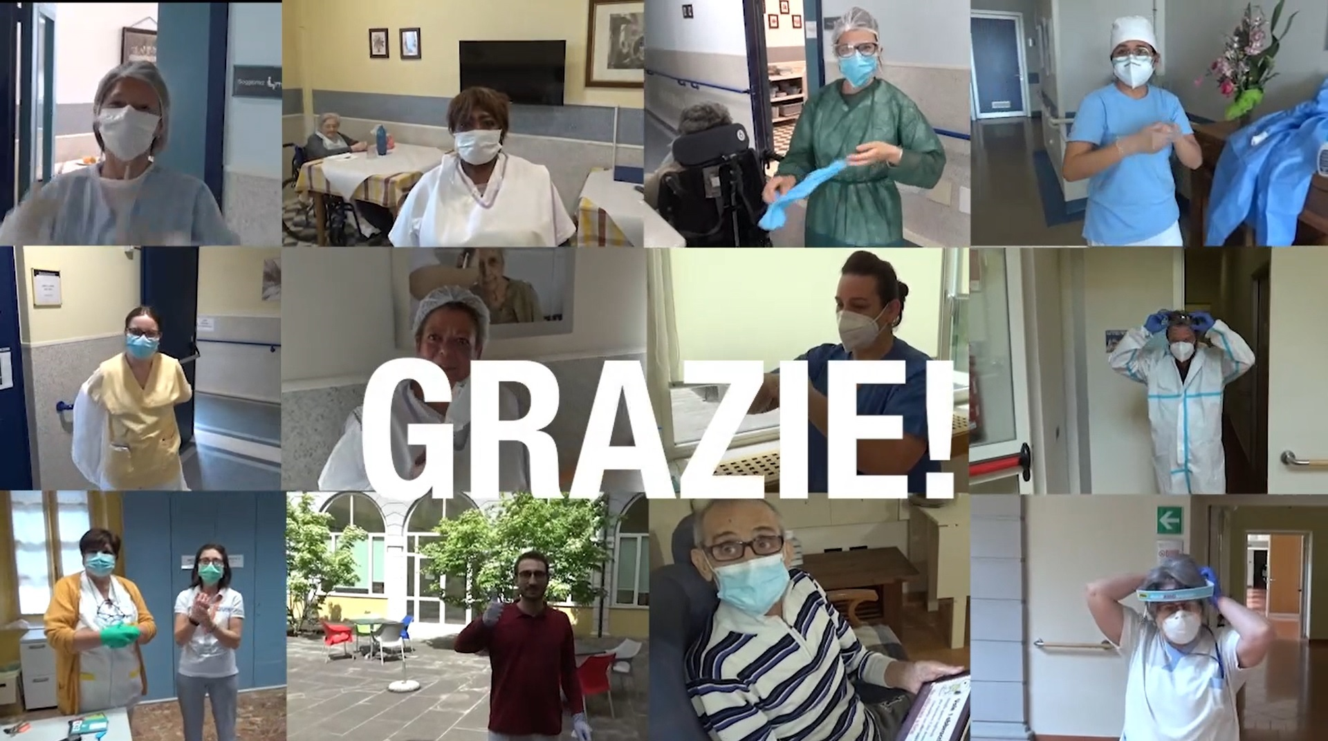 Un video per dire GRAZIE a chi ci è vicino